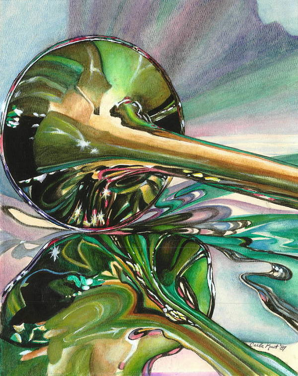 Watercolor Poster featuring the painting Jazz Shine by Carla Kurt