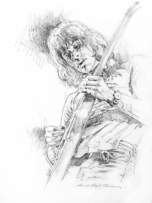 Jeff Beck Poster featuring the drawing Jeff Beck - Truth by David Lloyd Glover