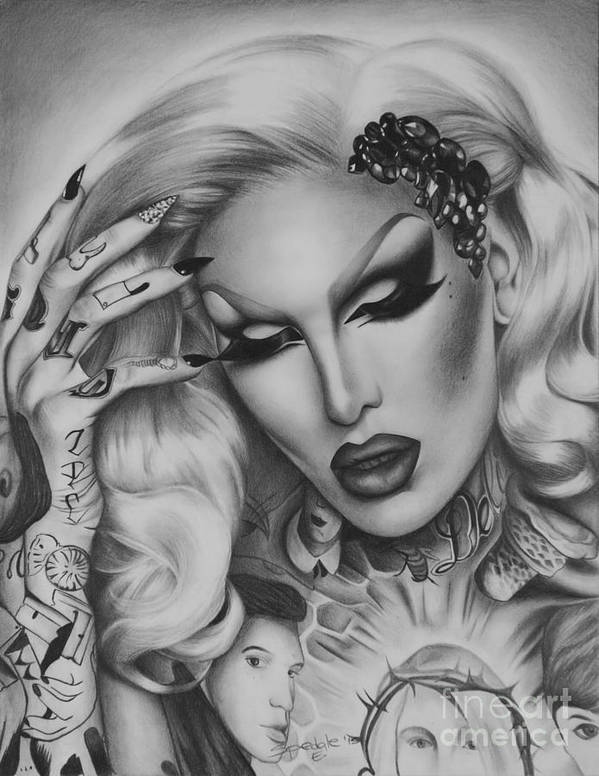 1920e58c2 Jeffree Star Poster featuring the drawing Jeffree Star by Elena Spedale