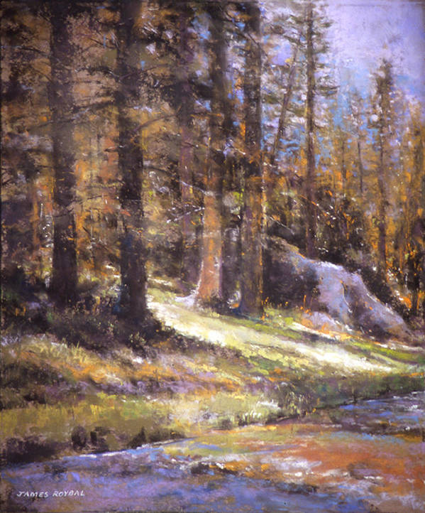 Landscape Poster featuring the painting Jemez Light by James Roybal