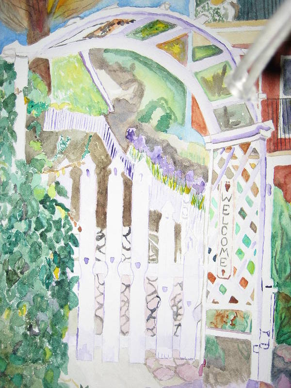 Garden Poster featuring the painting Jerome Jardin by Holly Schussler