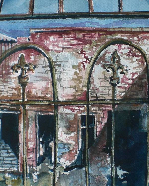 Jerome Poster featuring the painting Jerome Ruins by Aleksandra Buha