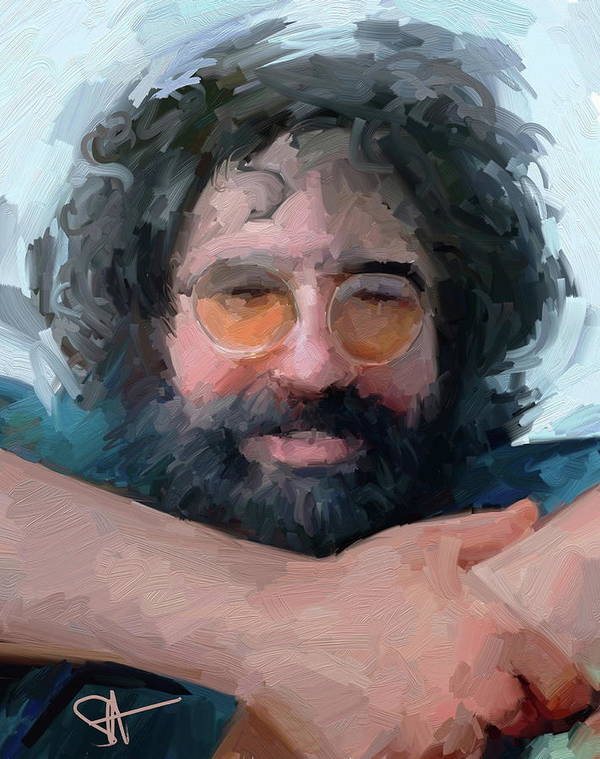 Jerry Poster featuring the digital art Jerry by Scott Waters