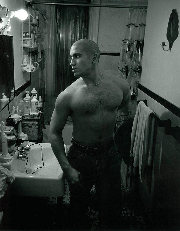 Portrait Poster featuring the photograph Jesse After Shaving His Head by Rusty Walton
