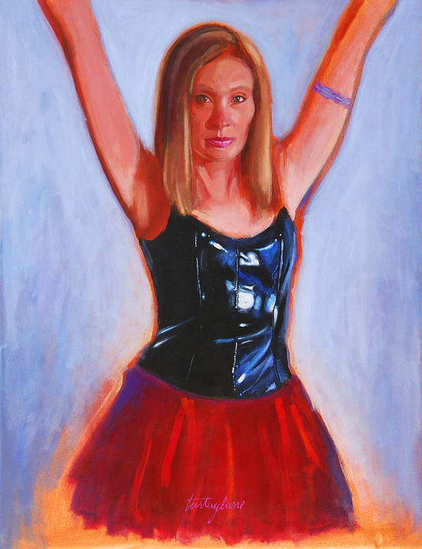 Woman Poster featuring the painting Jesse by John Tartaglione