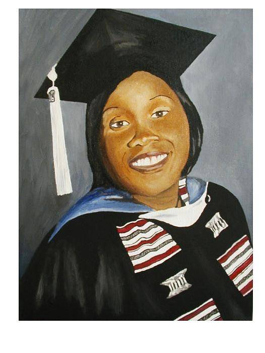 Portrait Poster featuring the painting Jessie by Angelo Thomas