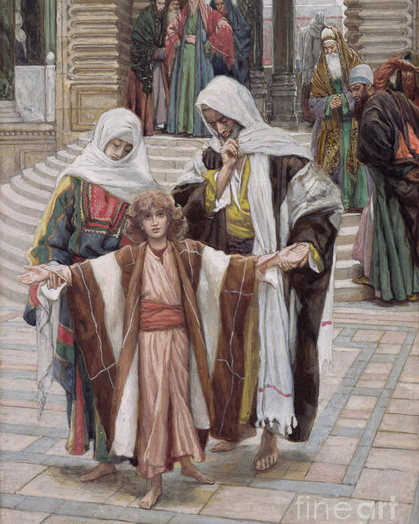 Poster featuring the painting Jesus Found In The Temple by Tissot