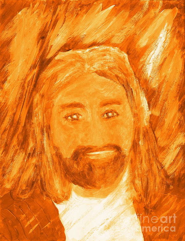 Poster featuring the painting Jesus Is The Christ The Holy Messiah 3 by Richard W Linford