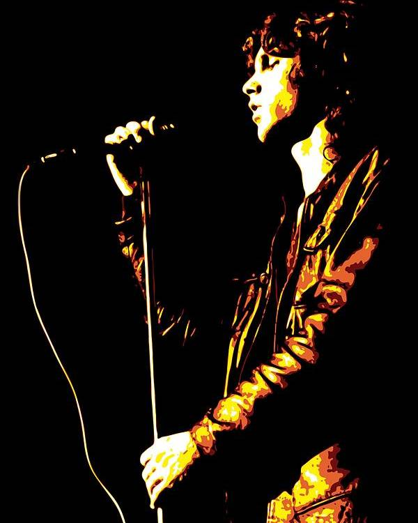 Jim Morrison Poster featuring the digital art Jim Morrison by DB Artist