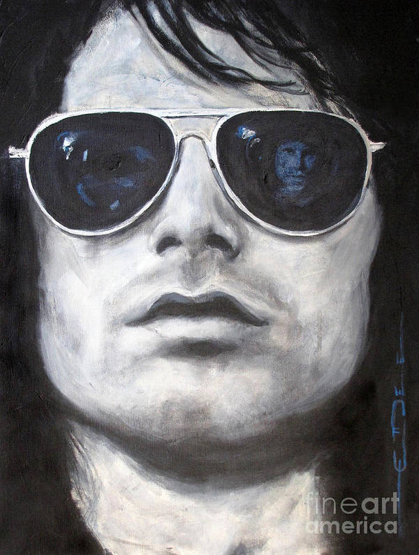 The Doors Poster featuring the painting Jim Morrison IIi by Eric Dee