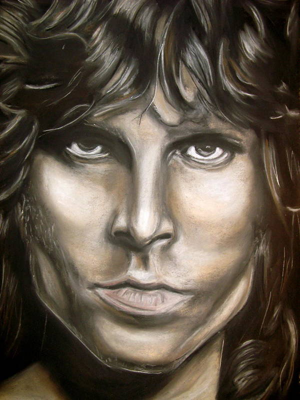 Jim Poster featuring the drawing Jim Morrison by Zach Zwagil