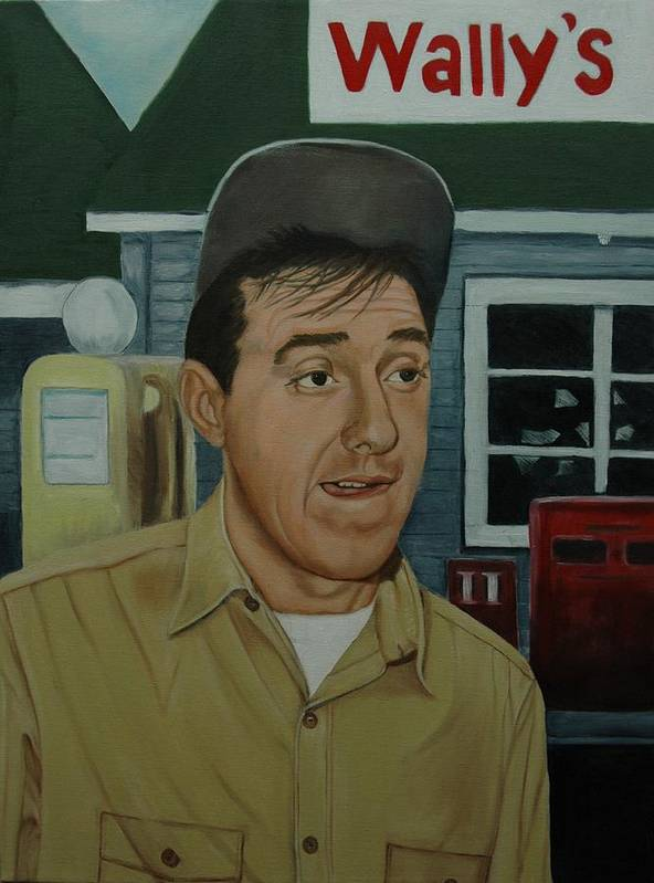 Gomer Poster featuring the painting Jim Nabors As Gomer Pyle by Tresa Crain