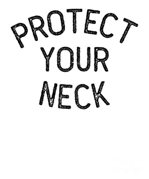 Bjj Poster featuring the digital art Jiu Jitsu Protect Your Neck Dark Jujitsu Bjj Gift Dark by J P
