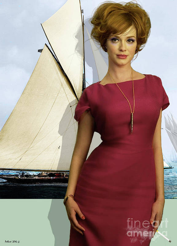 74a441525 Joan Holloway Poster featuring the mixed media Joan Holloway, Christina  Hendricks, Of Sterling Cooper