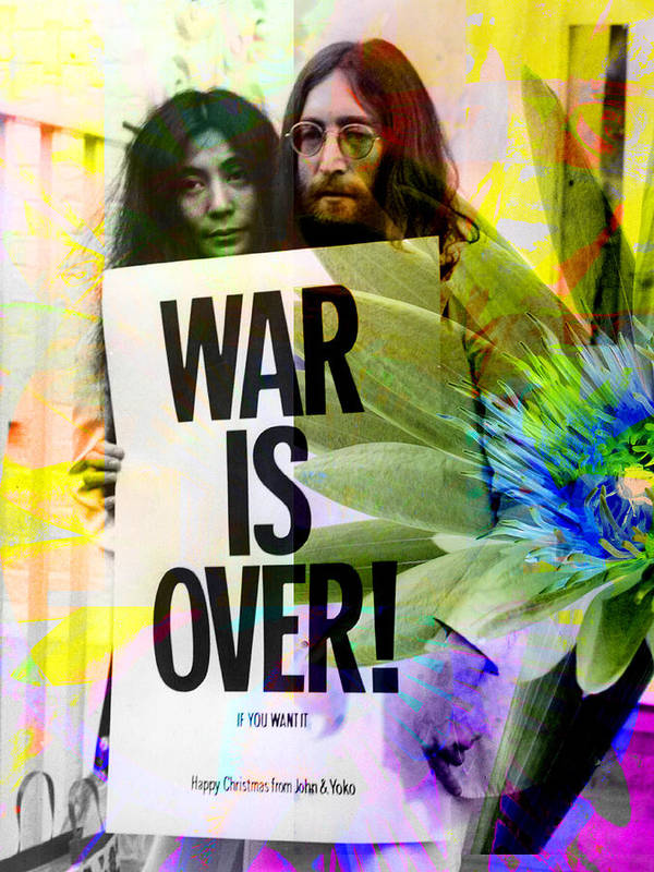 John Lennon Poster featuring the photograph John And Yoko - War Is Over by Andrew Osta