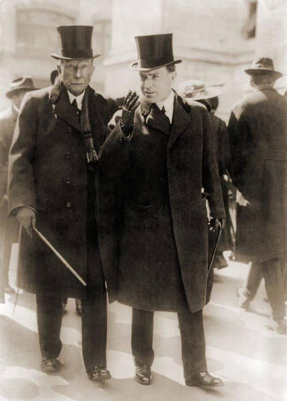 History Poster featuring the photograph John D. Rockefeller Sr., Founder by Everett