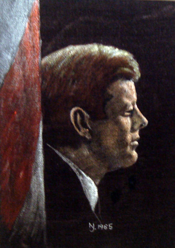 Jfk Poster featuring the painting John F. Kennedy by Norman F Jackson