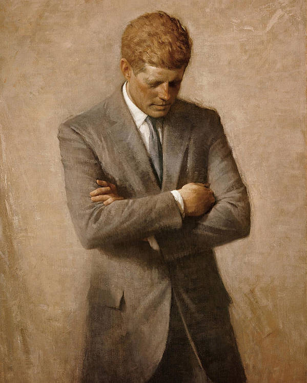 Jfk Poster featuring the painting John F Kennedy by War Is Hell Store