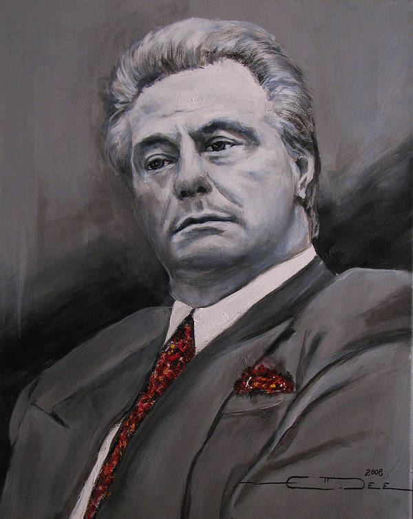 Gotti Poster featuring the painting John Gotti by Eric Dee