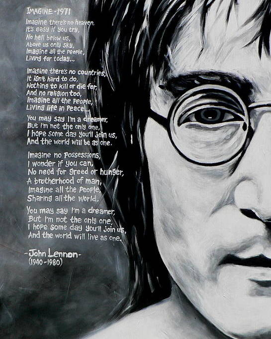 John Lennon Imagine Poster By Eddie Lim