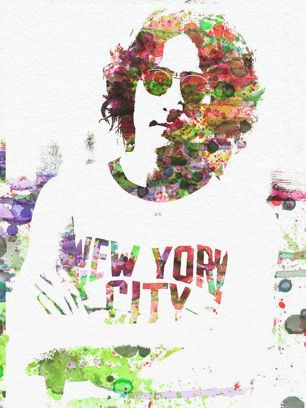 Poster featuring the painting John Lennon 2 by Naxart Studio