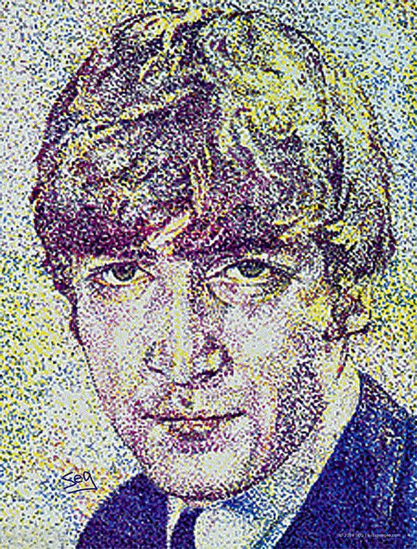 John Lennon Poster featuring the painting John Lennon by Suzanne Gee