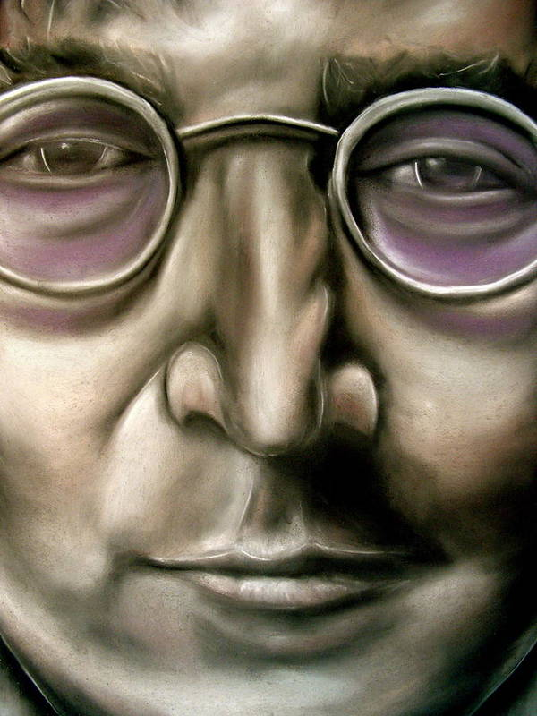 John Poster featuring the drawing John Lennon by Zach Zwagil