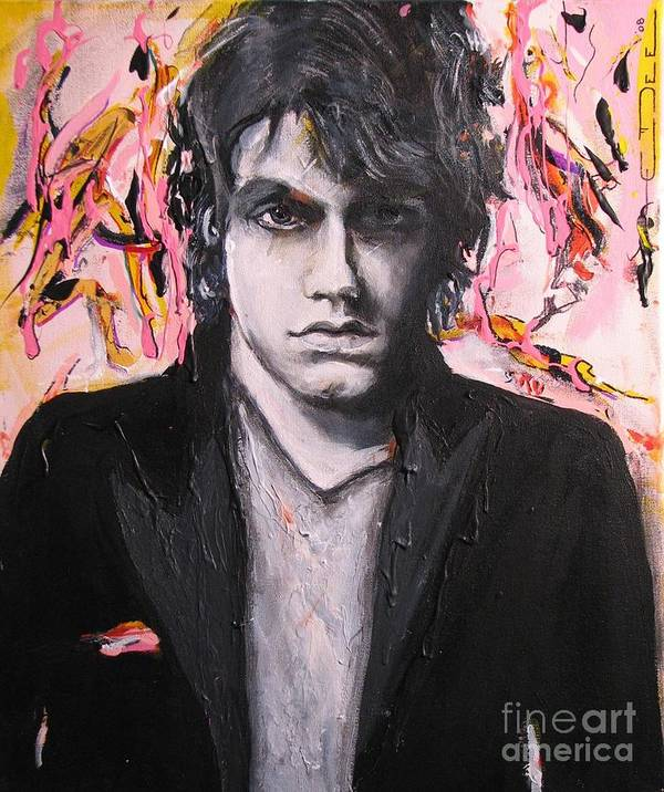 Celebrity Portraits Poster featuring the painting John Mayer by Eric Dee