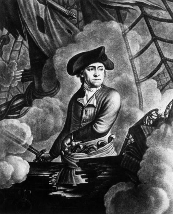 1700s Poster featuring the photograph John Paul Jones 1747-1792, American by Everett