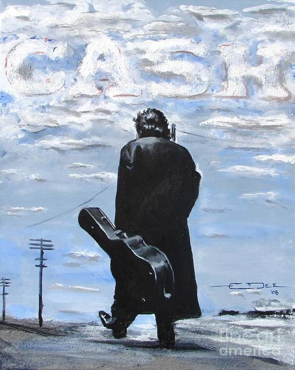 Johnny Cash Poster featuring the painting Johnny Cash - Going To Jackson by Eric Dee