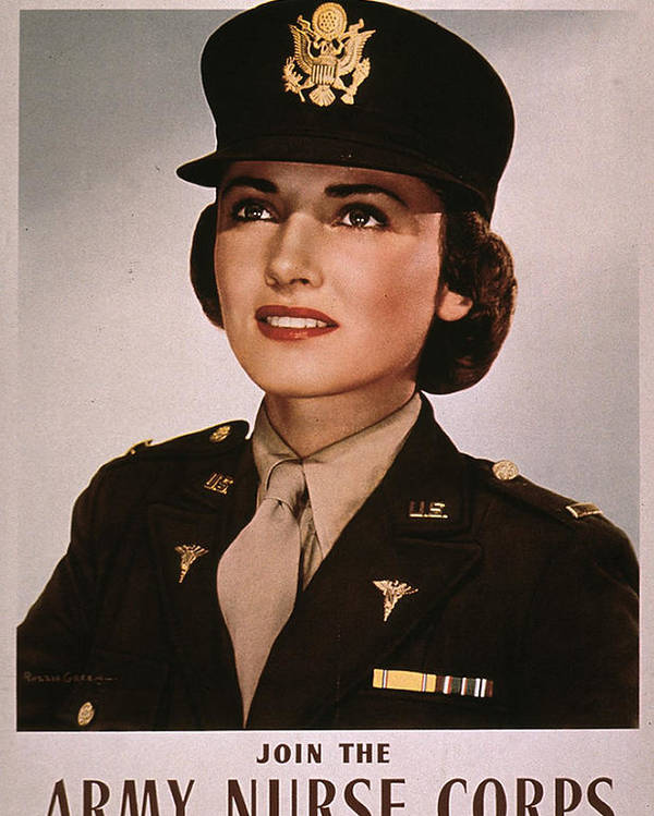 History Poster featuring the photograph Join The Army Nurse Corps. 1943 by Everett