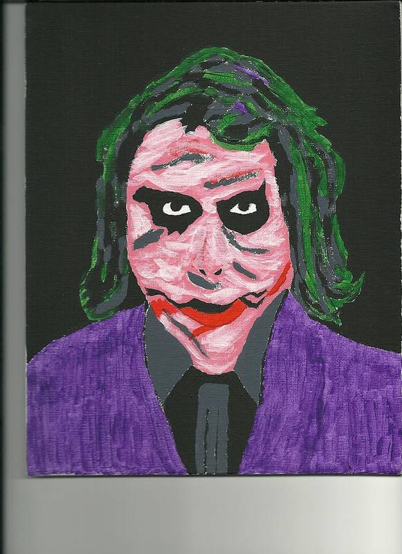 Abstract Acrylic Painting On Canvas. Poster featuring the painting Jokers Wild by Donald Herrick