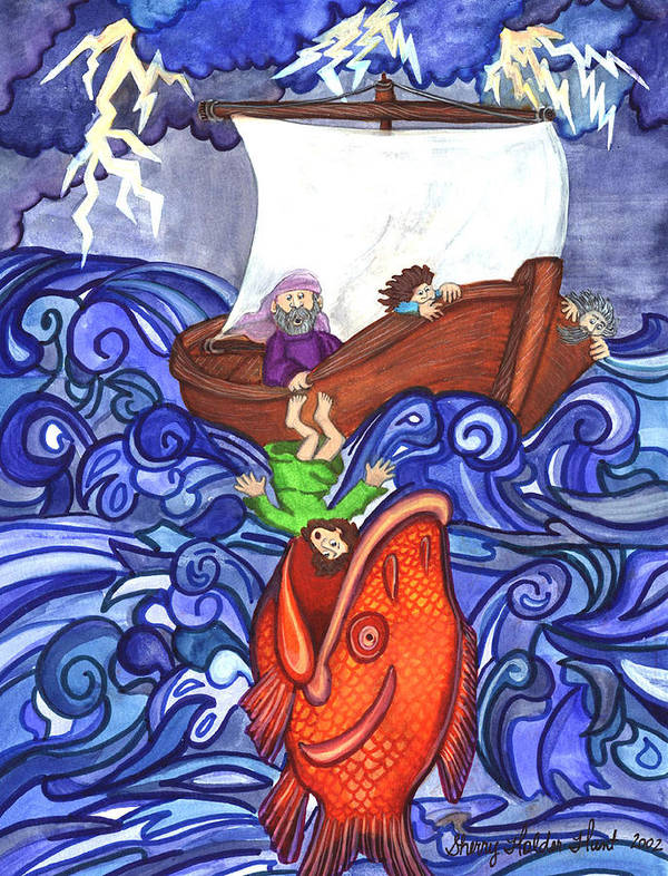 Watercolor Poster featuring the painting Jonah by Sherry Holder Hunt