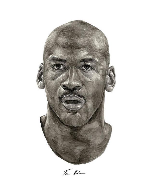 Michael Jordan Poster featuring the painting Jordan by Tamir Barkan