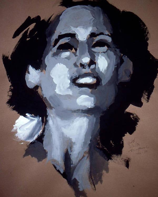 Joy Poster featuring the painting joy by Lance Miyamoto