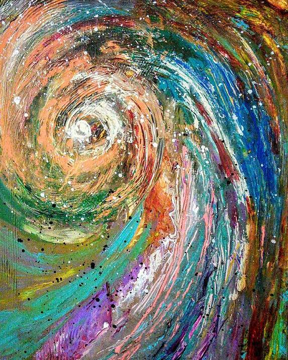 Spinning Colors Poster featuring the painting Joy by Valerie Josi