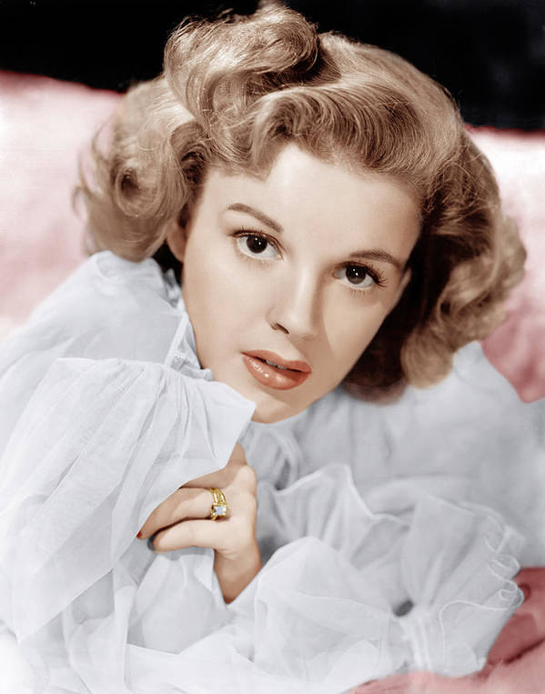 1940s Portraits Poster featuring the photograph Judy Garland, Ca. 1943 by Everett