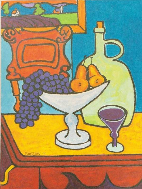 Jug Poster featuring the painting Jug Of Wine by Nicholas Martori