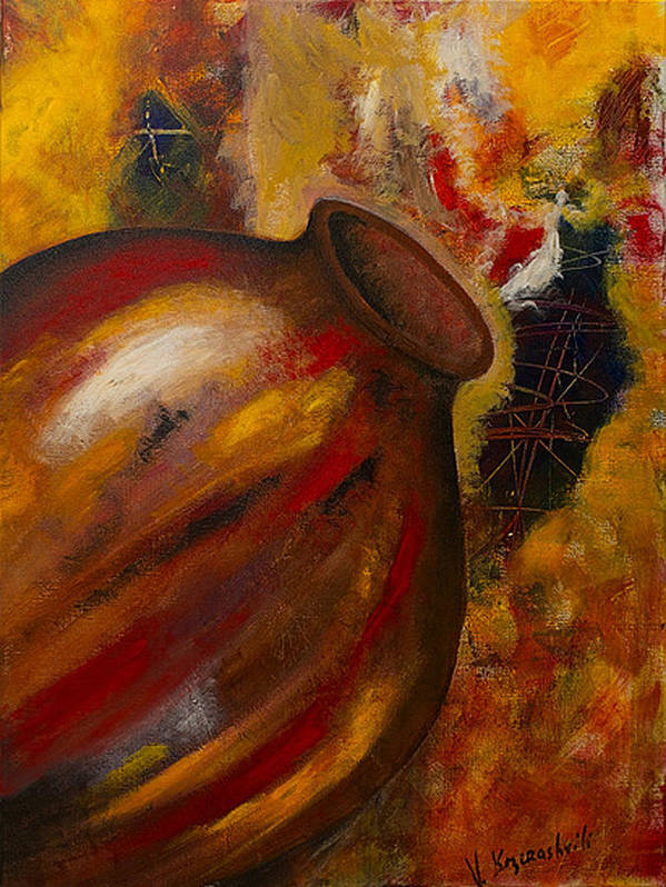 Landscape Poster featuring the painting Jug by Vladimir Kezerashvili