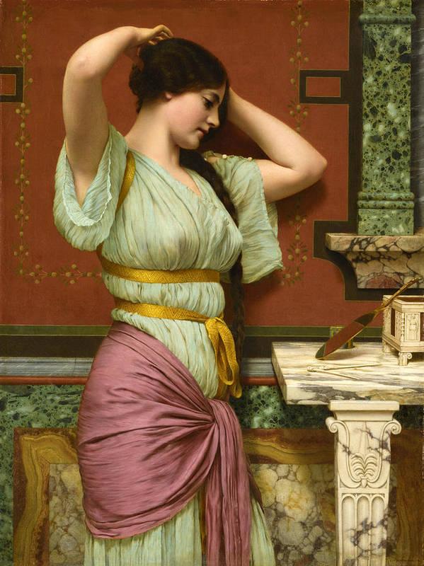John William Godward Poster featuring the painting Julia by John William Godward