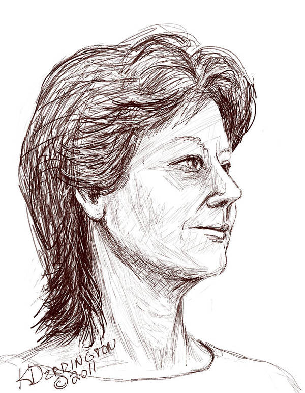 Classic Pencil Sketch Poster featuring the painting Julie by Khaila Derrington
