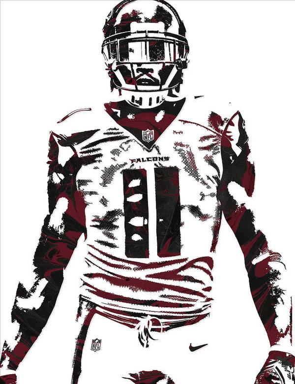 Julio Jones Atlanta Falcons Pixel Art 5 Poster By Joe Hamilton