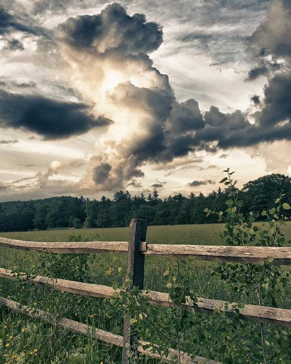 June Poster featuring the photograph June Thunderstorms Along Connecticut River by Nathan Larson