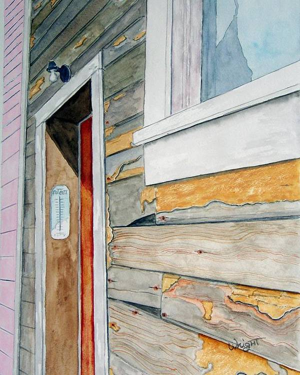 House Poster featuring the painting Juneau Townhouse by Larry Wright