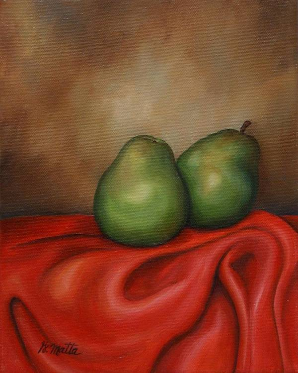 Still Life Poster featuring the painting Just A Pair by Gretchen Matta