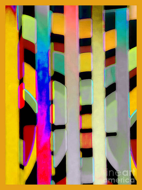 Abstract Poster featuring the photograph Just Color 2 by Linda Parker