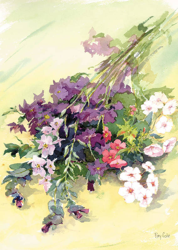 Flowers Poster featuring the painting Just Flowers by Ray Cole
