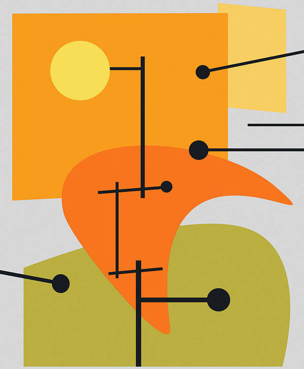 Abstract Poster featuring the digital art Juxtaposing Thoughts by Richard Rizzo