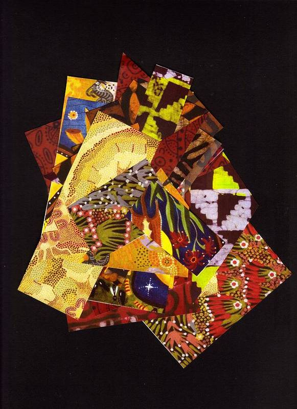 Abstract Poster featuring the mixed media Kaleidoscope by Bee Jay