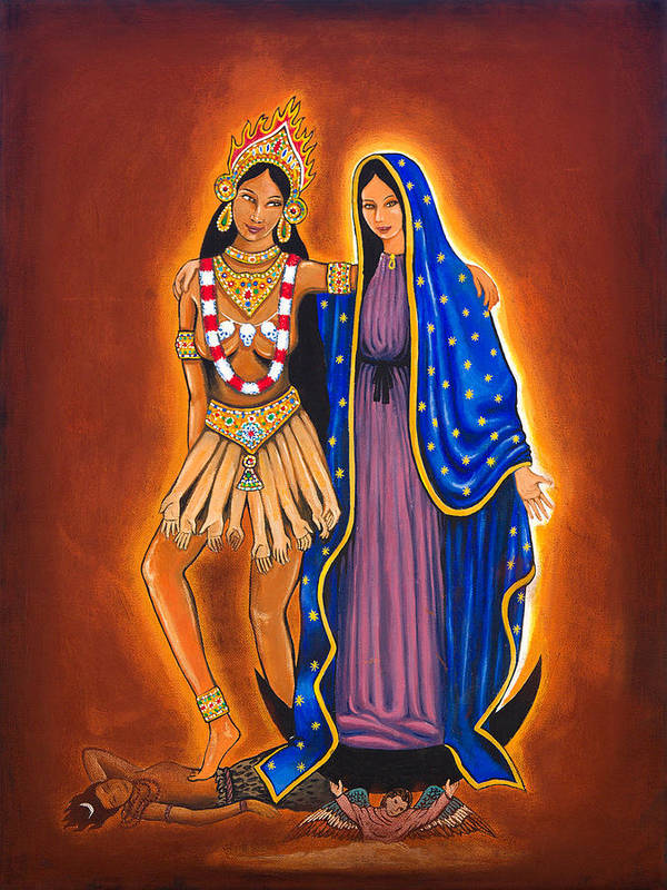 Kali Poster featuring the painting Kali And The Virgin by James RODERICK